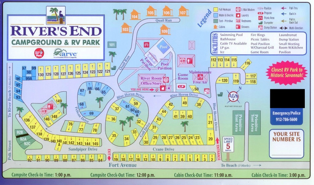 rivers-end-campground-map - River's End Campground & RV Park on