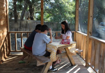 Tybee Island Camping Cabin Porch Games