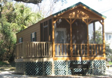 camping cabin in Tybee