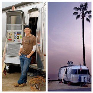 Matthew McConaughey's Airstream. Photos by Architectural Digest.